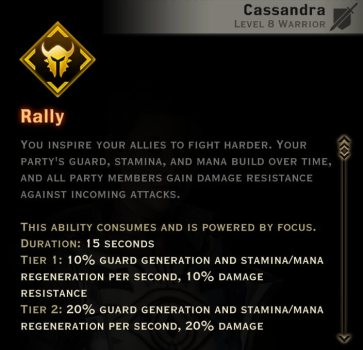 Dragon Age Inquisition - Rally Templar warrior skill