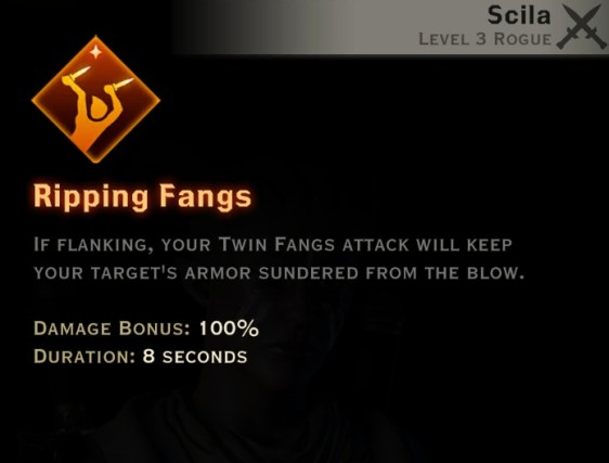 Dragon Age Inquisition - Ripping Fangs Double Daggers rogue skill