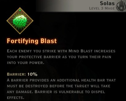 Dragon Age Inquisition - Fortifying Blast Spirit mage skill