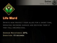 Dragon Age Inquisition - Life Ward Spirit mage skill