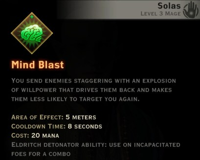 Dragon Age Inquisition - Mind Blast Spirit mage skill