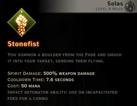 Dragon Age Inquisition - Stonefist Rift mage skill