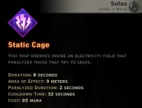 Dragon Age Inquisition - Static Cage Storm mage skill