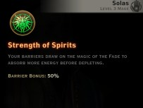 Dragon Age Inquisition - Strength of Spirits - Spirit mage skill