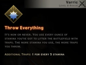 Dragon Age Inquisition - Throw Everything Artificer rogue skill
