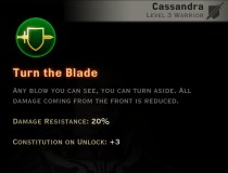 Dragon Age Inquisition - Turn the Blade Weapon and Shield warrior skill