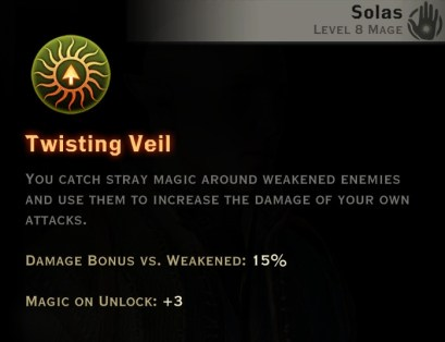 Dragon Age Inquisition - Twisting Veil Rift mage skill