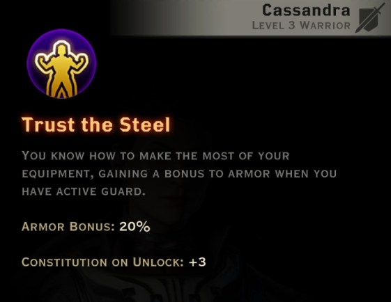 Dragon Age Inquisition - Turn the Steel Vanguard warrior skill
