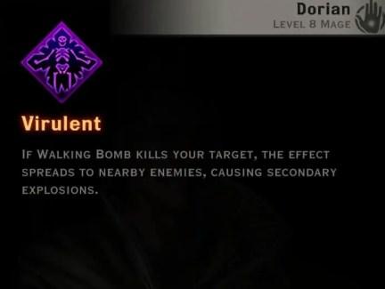 Dragon Age Inquisition - Virulent Necromancer mage skill