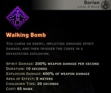 Dragon Age Inquisition - Walking Bomb Necromancer mage skill