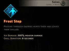 Dragon Age Inquisition - Frost Step Winter mage skill
