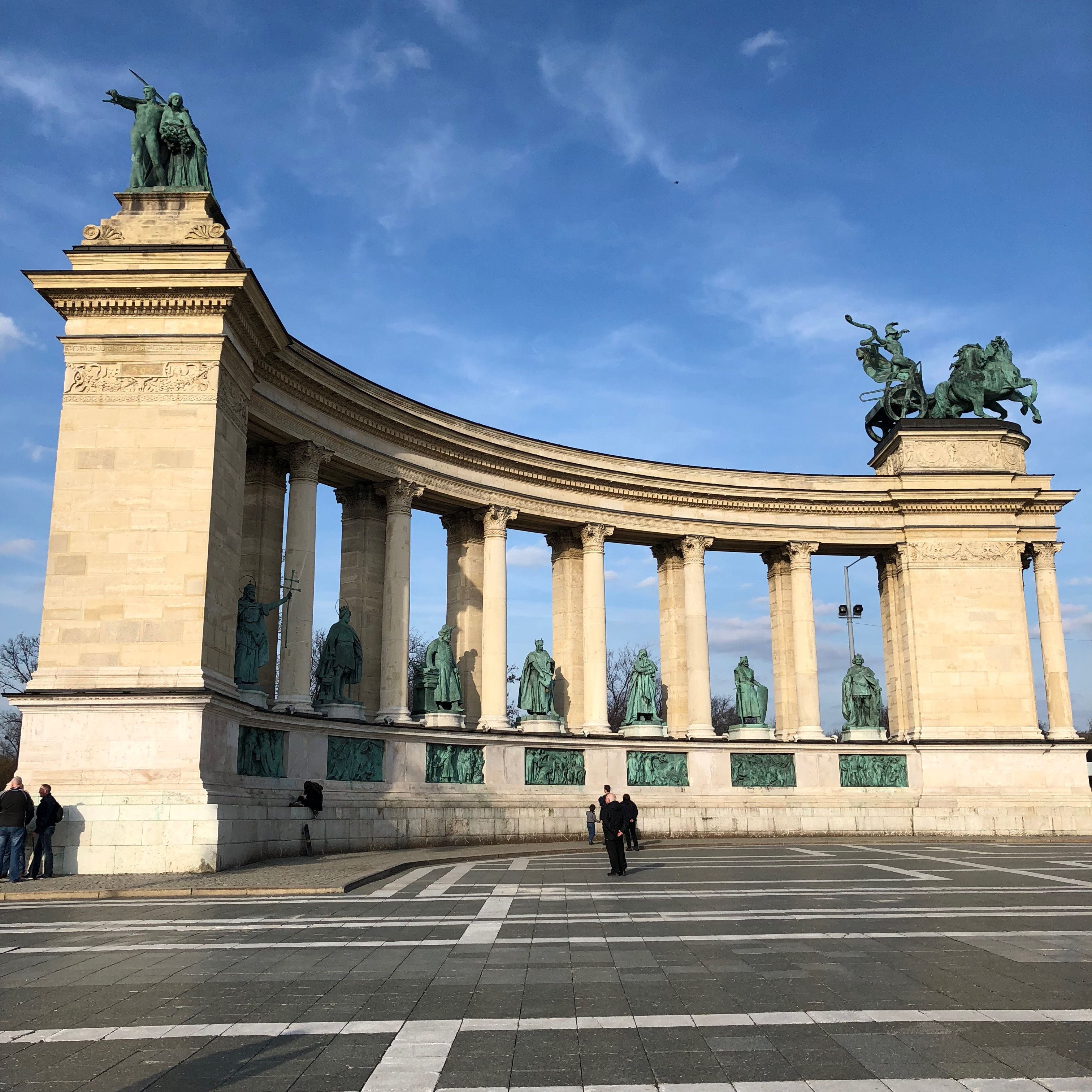 Sunday walk through Budapest. Heroes Square and its surroundings