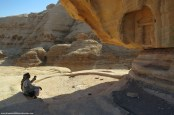 bedouin guide describing #petra by eva the dragon 2013