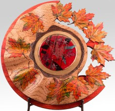 Maple Leaf Platter with Glass