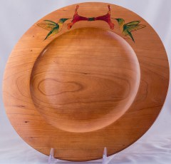 Cherry Hummingbird Platter