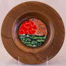 Sunset Teak Plate