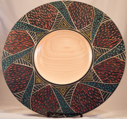 Maple Carved Platter