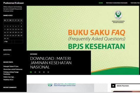 Blog PKM Kraksaan tempat sekarang saya bekerja