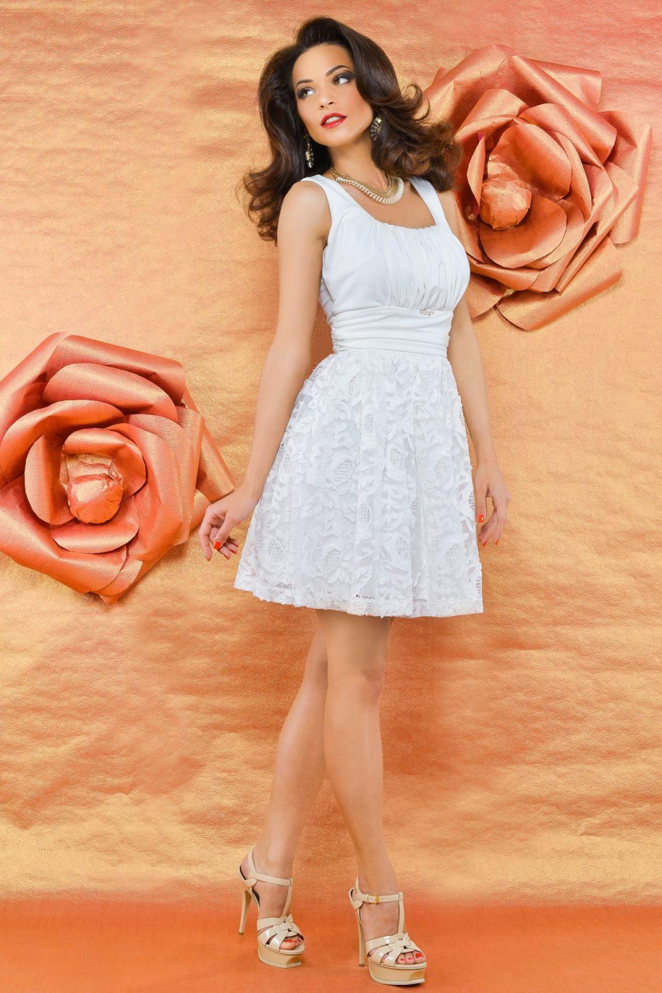 rochie scurta alba