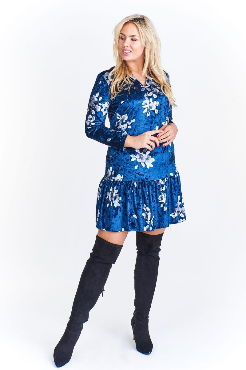 rochie-sic-din-catifea-albastra-cu-imprimeu-floral_fro180290_albastru