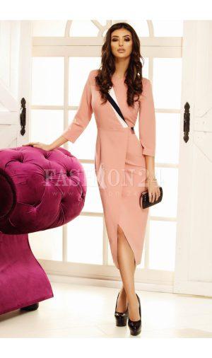 Rochie Aura roz petrecuta