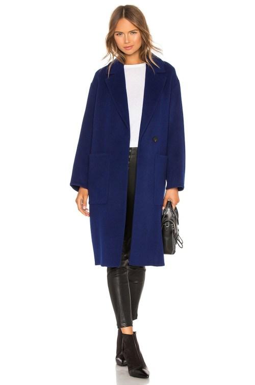 palton dama albastru