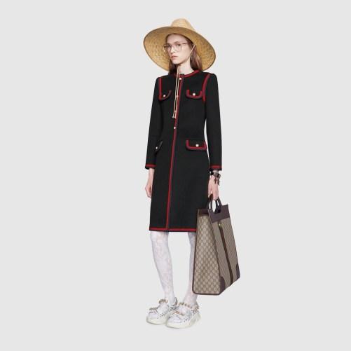 palton dama negru si rosu