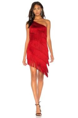 rochie din satin cu franjuri