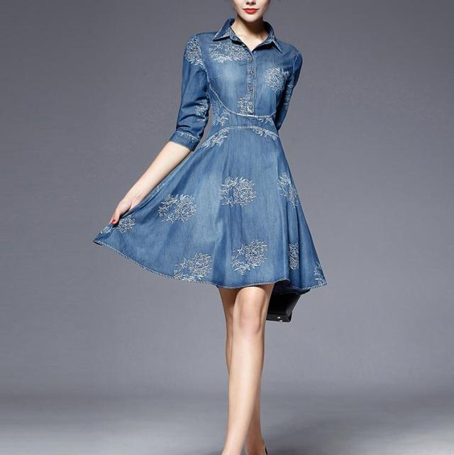 rochie de primavara din denim