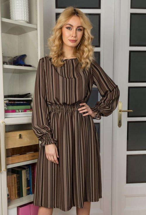 rochie maro cu buzunare