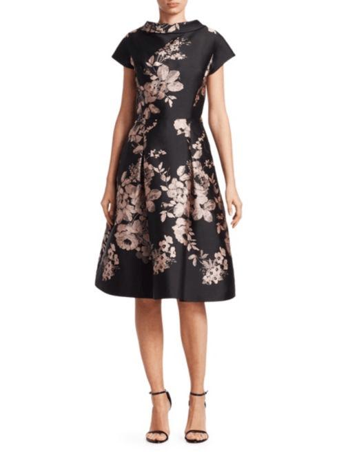 rochie neagra cu flori