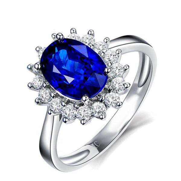 inel cu piatra stralucitoare albastru royal