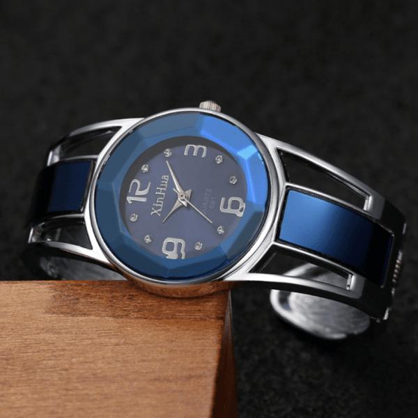 ceas dama albastru royal
