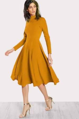 rochie midi cu fusta ampla simone