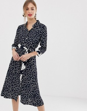 Emme floral and spot midaxi tie dress