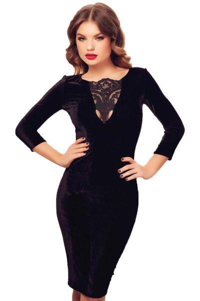 rochie-eleganta-din-catifea-neagra-cu-dantela-anastasia
