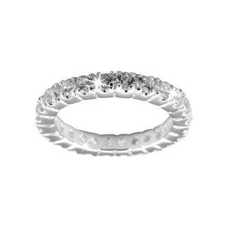 Inel aniversar / de logodna, Argint 925 CZ Diamond Eternity