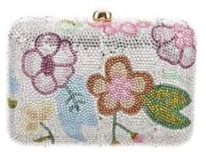 Judith Leiber Crystal-Embellished Floral Minaudière
