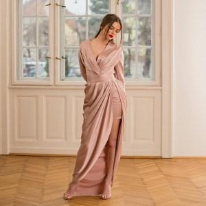 Rochia Anastasia din tesatura din fibre naturale
