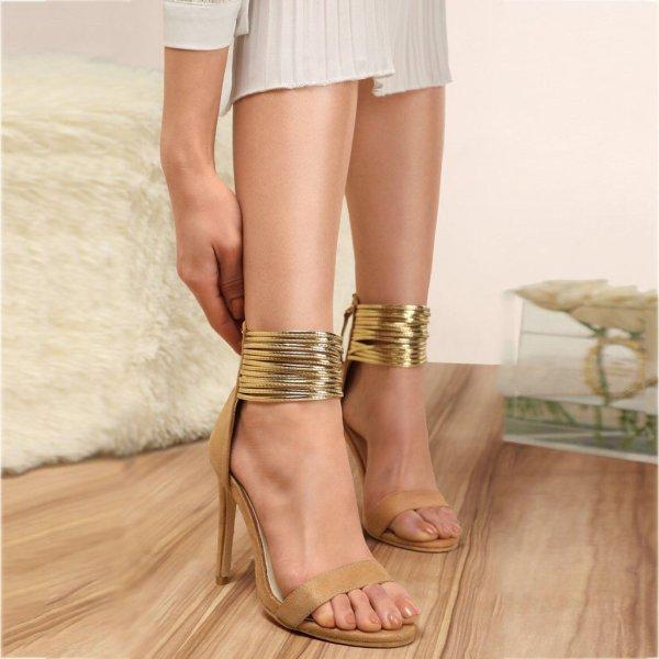 Sandale cu toc înalt, pentru femei moderne, sandale sexy pentru petrecere