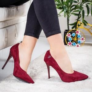 Pantofi Pitana visinii eleganti