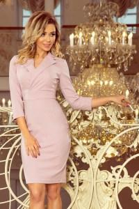 Rochie de zi office violet Numoco – 130847