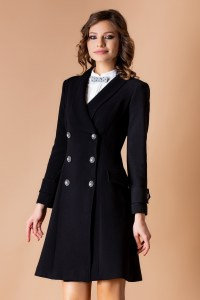 Palton negru lung Sandy
