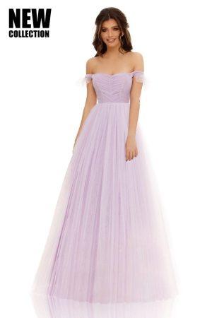 Rochie lungă tip corset cu două straturi de tull Yasmin
