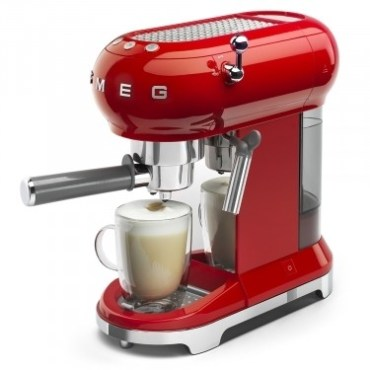 Espressor Cafea ECF01RDEU Rosu Retro 50 SMEG