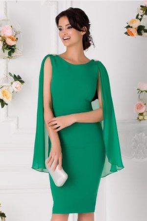 Rochie de ocazie eleganta cu accesorii la umeri