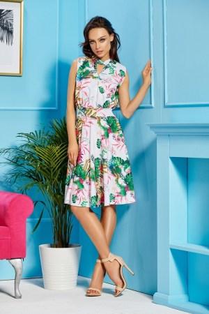 Rochie de zi cu imprimeu floral