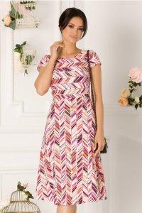 Rochie de zi cu imprimeu in dungi