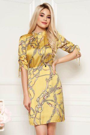 Rochie eleganta de zi din material satinat