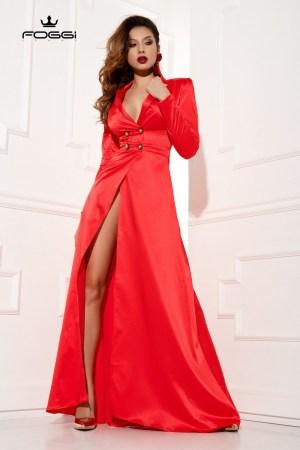 Rochie lunga rosie de ocazie